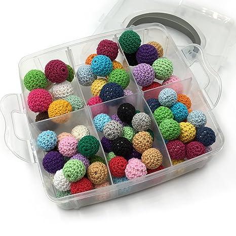 Coskiss DIY Enfermería Combinación de Joyería Mezclado de Color Crochet Beads Blending Creative libertad Baby Teether juguetes conjunto Combinación ...