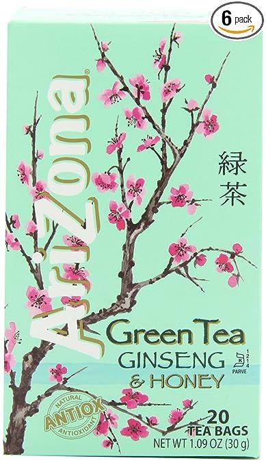 Amazon Arizona Green Tea With Ginseng Honey 20 Count Tea