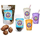 10+ Drinks Taro Boba Tea Kit: Tea Powder, Tapioca Pearls & Straws By Buddha Bubbles Boba
