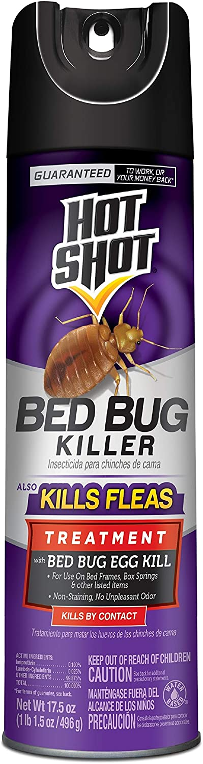 Hot Shot Bed Bug Killer, Aerosol, 17.5-Ounce