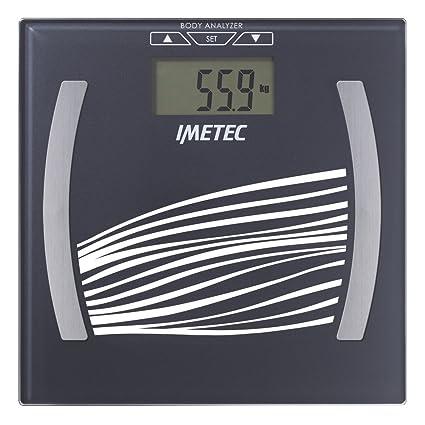 IMETEC BF4 500 - Báscula de baño, cuadrada, vidrio templado, color gris