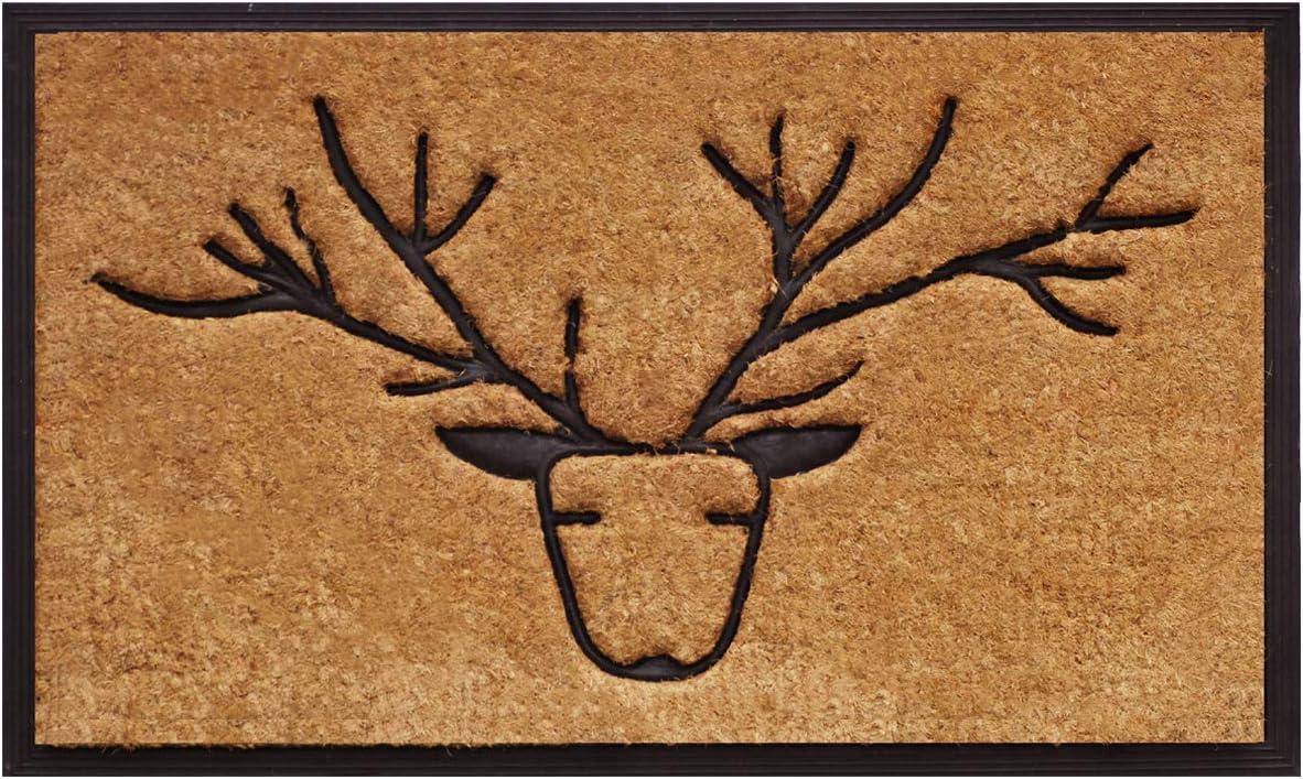 Callowaymills Deer Coir and Rubber Heavy-Duty 18 X 30 Doormat