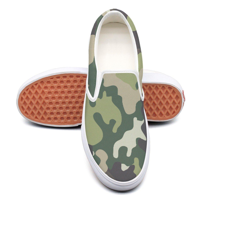 VCERTHDF Army Military Camouflage Fashion Slip-On Shoe Men White