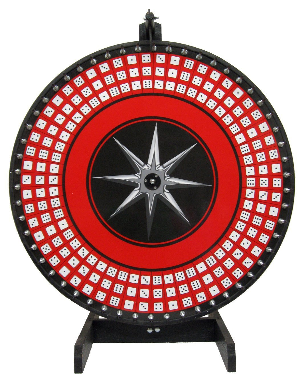 36in Big 6 Dice Game Wheel on Table Stand, Self-Adhesive Laydown Included!