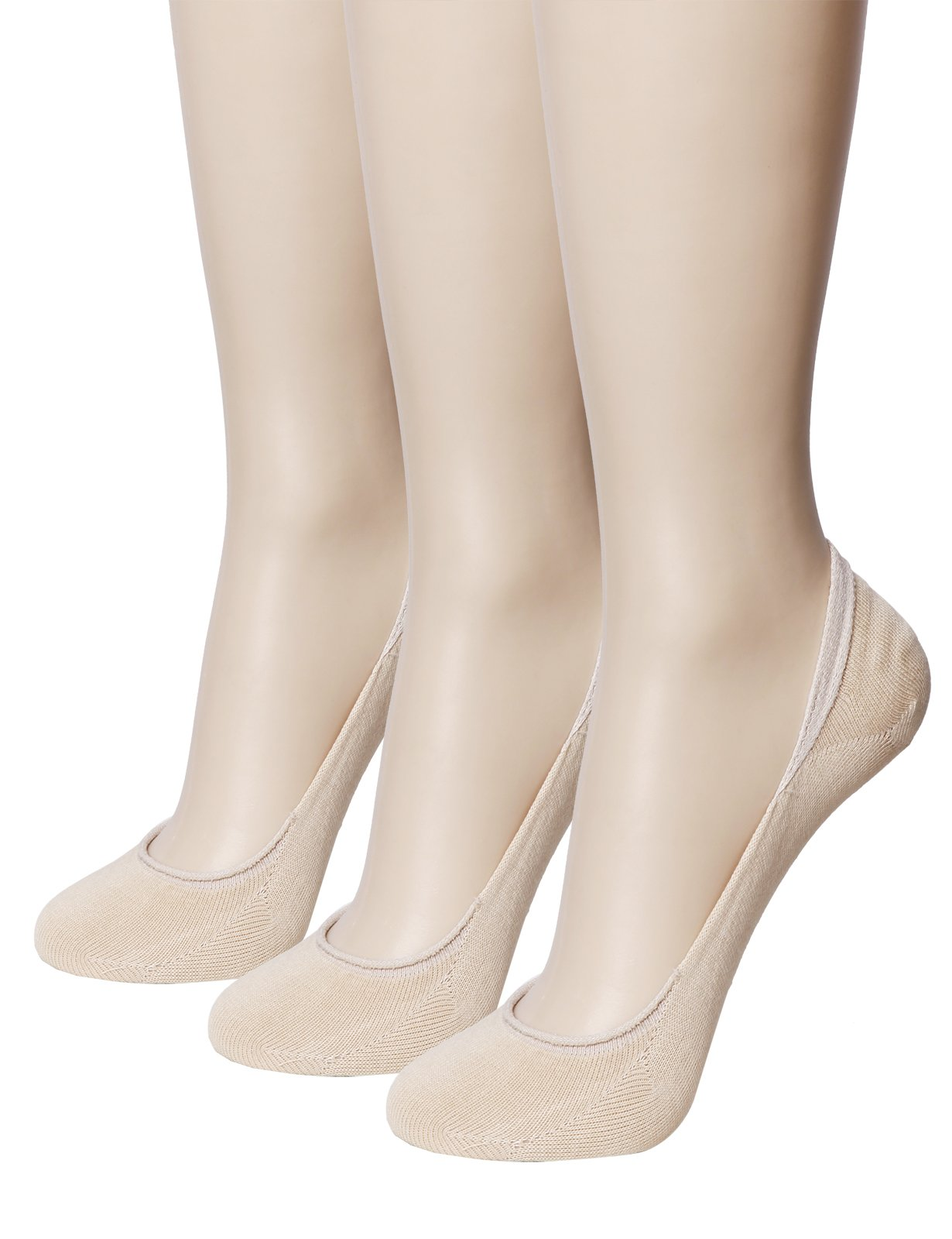 OASABASA Womens TRULY No Show Socks - Ultra Low Cut Socks Flat Socks Beige (SET3KWMS0403)