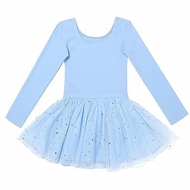 FEESHOW Enfant Tutu Ballet Robe de Danse Classique Filles Justaucorps  Manches Longues Pailleté Tulle Tutu Fille Léotard Ballet Dnase Gym   Amazon.fr  ... 1366e91e53b