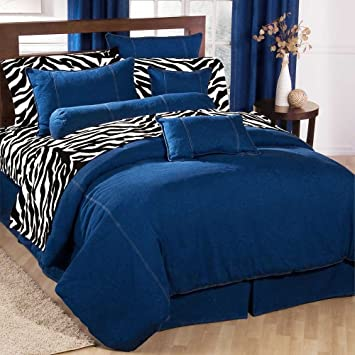 american denim duvet cover size queen