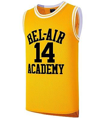 3f722f731e0a JOLI SPORT Smith  14 Bel Air Academy Yellow Basketball Jersey S-XXXL  (XXXLarge