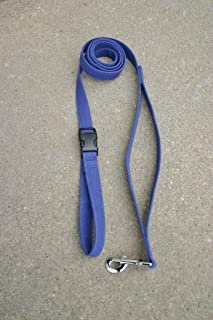 "product image for Hemp Canvas Basic Leashes (3/4"" City Clicker, Blue)"
