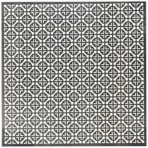 M-D Hobby & Craft 573-50 Silver Colored Metal Sheet, 12 by 12-Inch, Mosaic by M-D Hobby & Craft