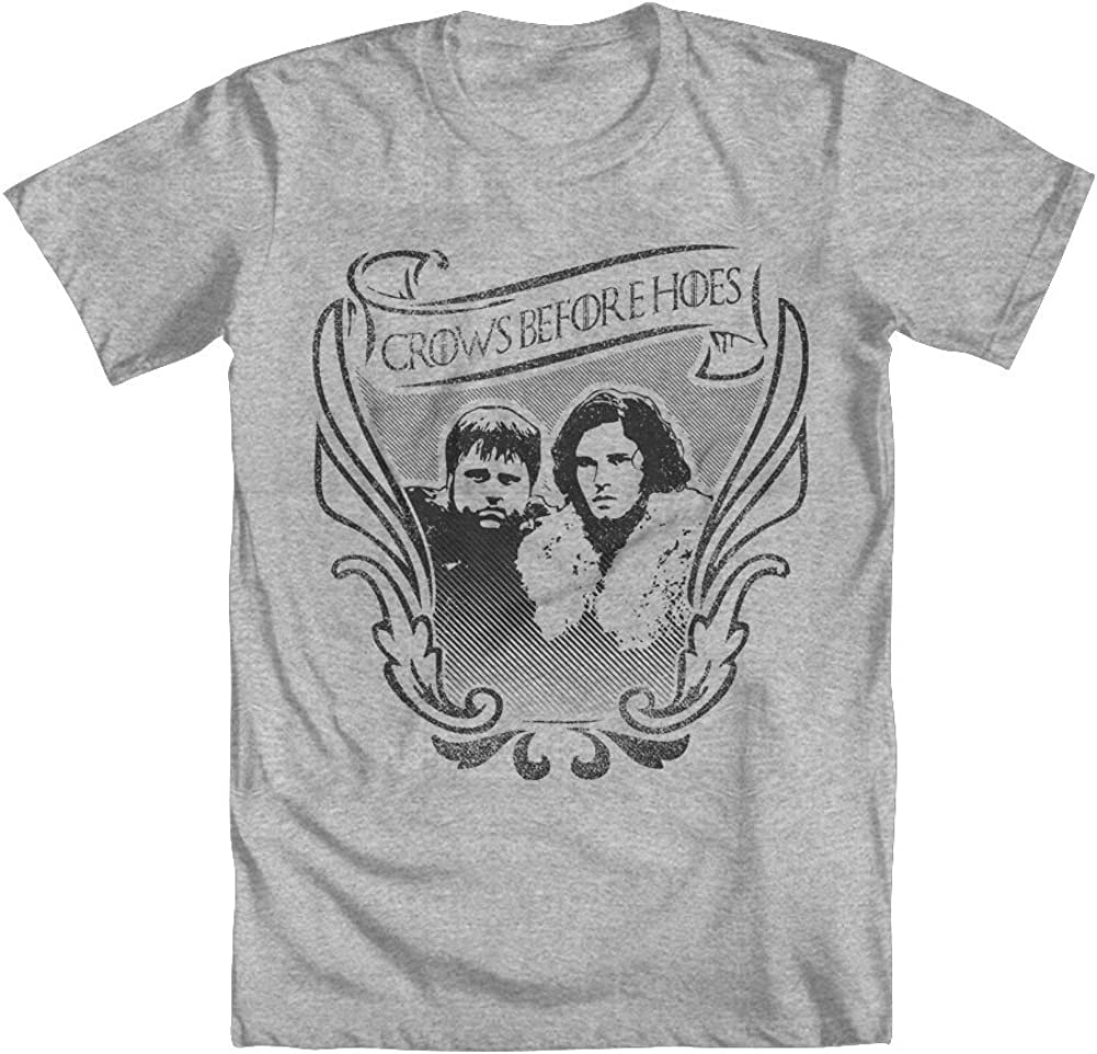 Crows Before Hoes Jon Snow Girls T-Shirt Game of Thrones