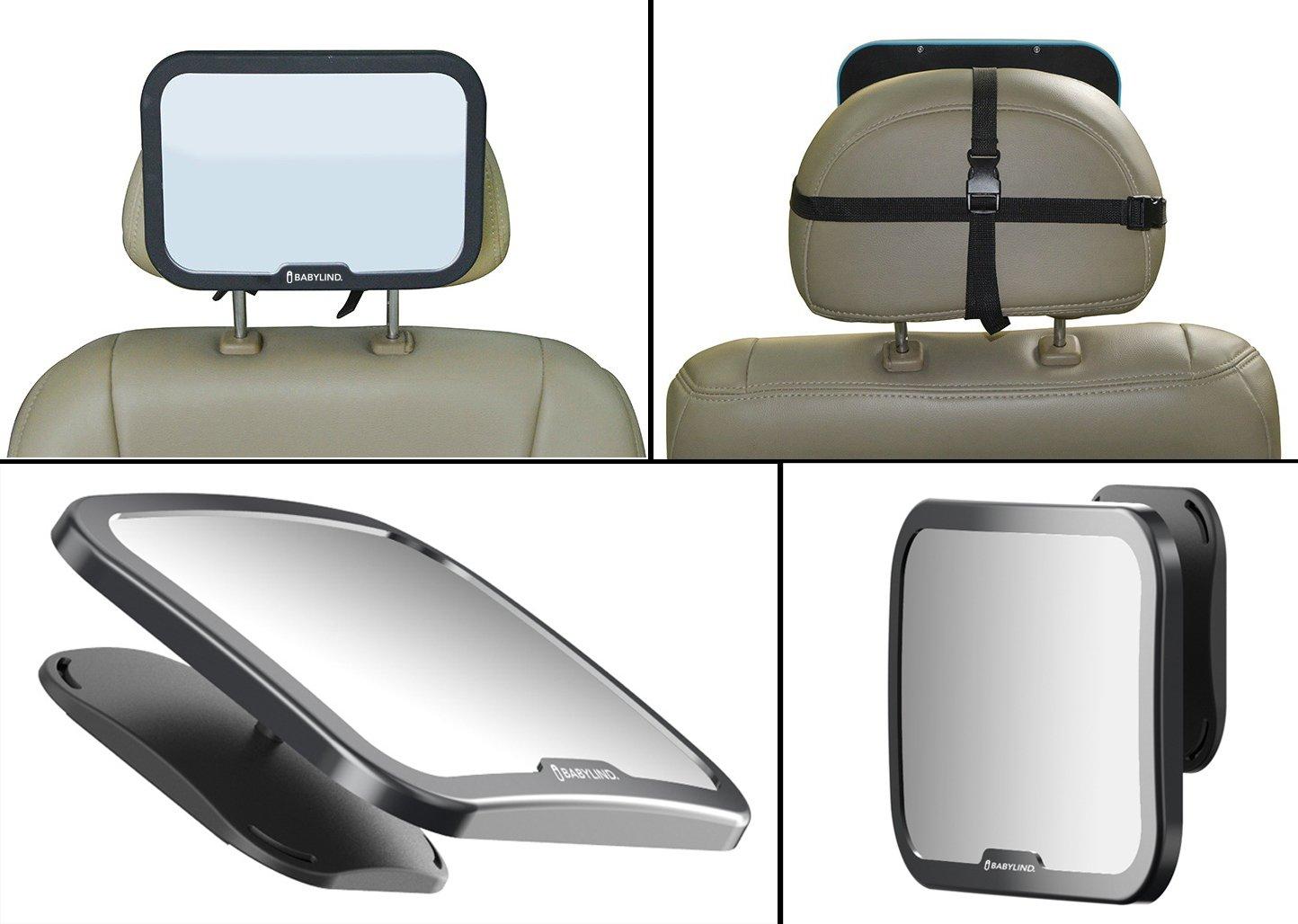 TiooDre WisFox beb/Ã del espejo de coche para ni/Ã/±os espejo retrovisor del coche para el beb/Ã y la madre mirando hacia atr/Ã/¡s Ver ajustable medio