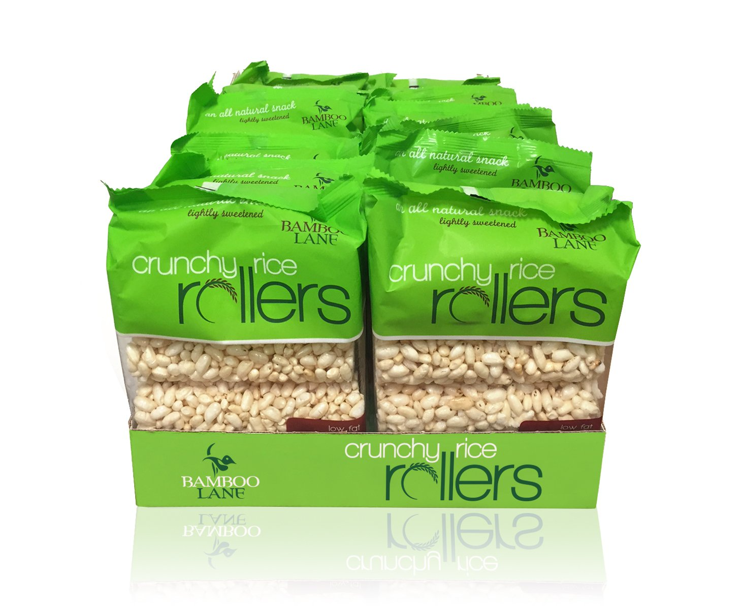 Bamboo Lane Crunchy Rice Rollers 3.5oz (12 Packs of 8 Rollers) by Bamboo Lane