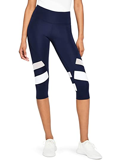 AURIQUE Damen Sport Leggings Damen Capri Stripe