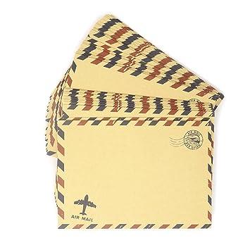 honbay 50pcs Vintage papel de estraza sobres invitación ...