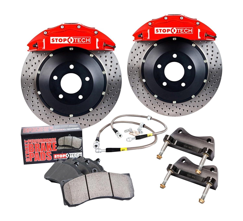Stoptech Brake Kit >> Amazon Com Stoptech 83 886 4300 R4 Big Brake Kit Automotive