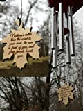 Wind Chime Friendship Large PRIME Gift Giving Unique Silver Wind Chime Poem for Garden or Porch Birthday House warming…