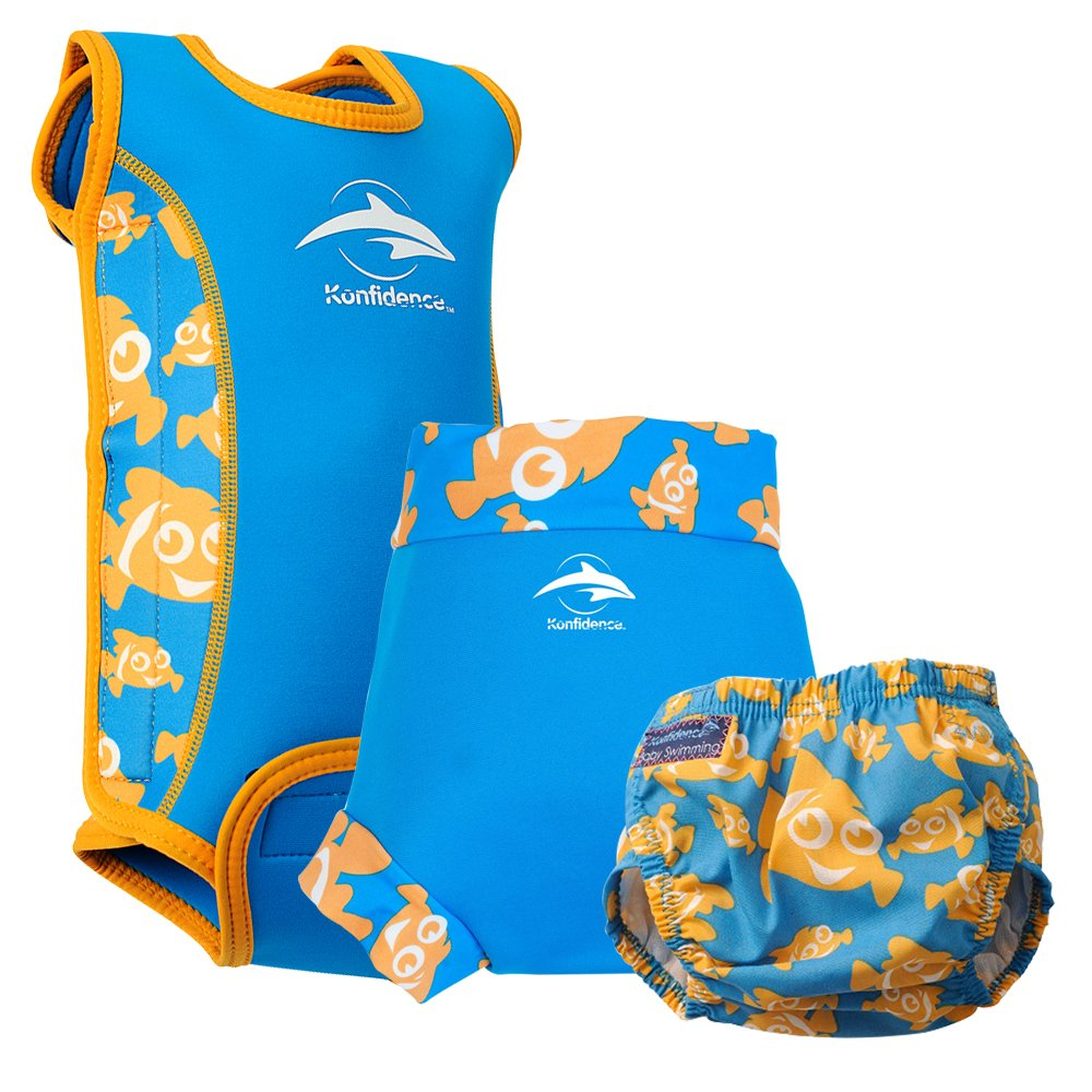 Konfidence Babywarma and Swim Nappies Set Clownfish X Large - 12 to 18 Months