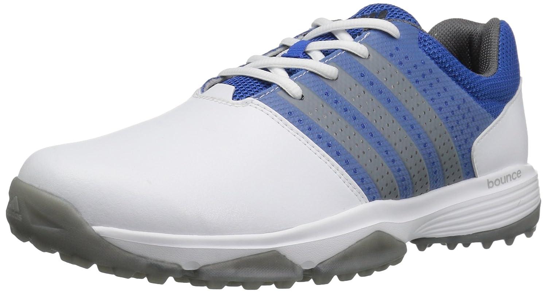 adidas Men's 360 Traxion WD Cblack/Dks Golf Shoe B01MYF09JC 7 W US|Footwear White/Dark Silver/Shock Blue
