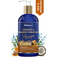 StBotanica Coconut Oil & Bamboo Hair Strengthening Shampoo - 300ml - No Sulphate, No Parabens, No Silicon (New & Improved)