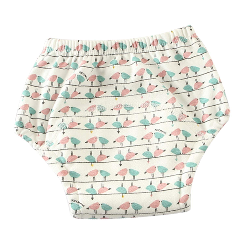 De feuilles 5 Pack Baby Cartoon Potty Training Pants Underwear Reusable for Boys Girls