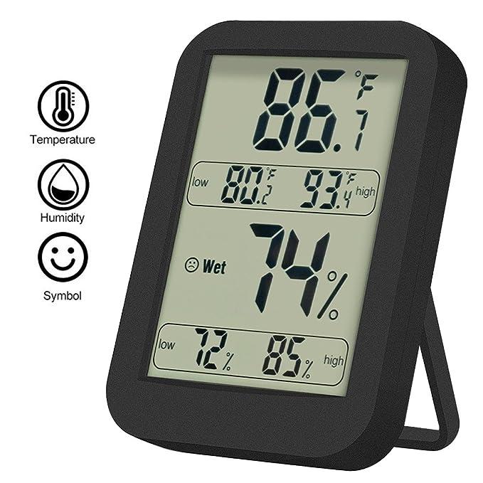 2 opinioni per Termometro Umidita Digitale Backture Termometro Igrometro Digitale LCD per