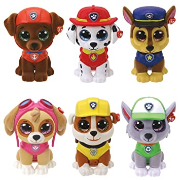 TY Mini Boos Boos Collectable Mini Figures - 6 Piece Set of Paw Patrol