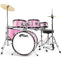 Tiger Claw JDS14-PK - Batería infantil de 5 piezas, color rosa (Jasmine Pink)