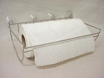 portarollos porta rollo papel cocina pared ventosas