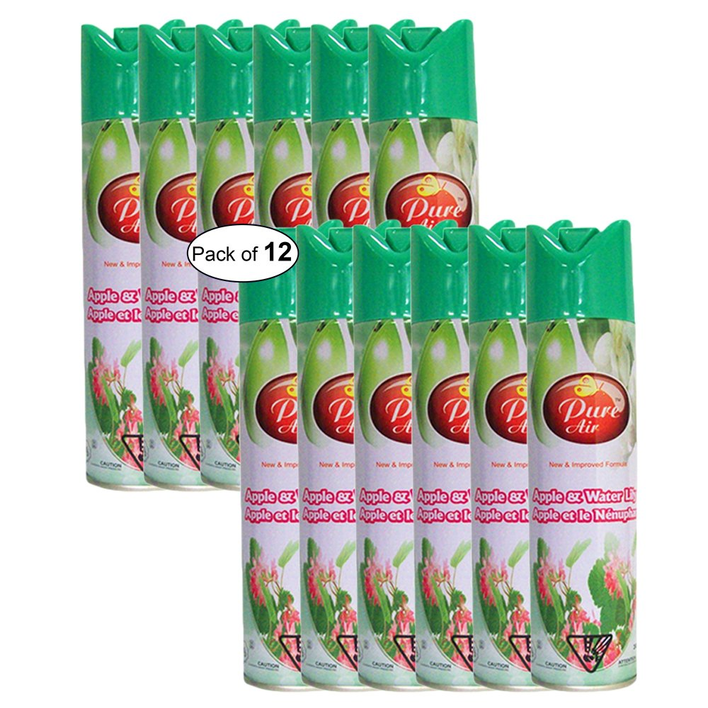 Pure Air- Apple & Water Lily Air Freshener (300ml) (Pack of 12)