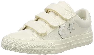 5852c0d91bacba Converse Unisex Kids  Lifestyle Star Player Ev 3v Ox Canvas Fitness Shoes  White Egret 281