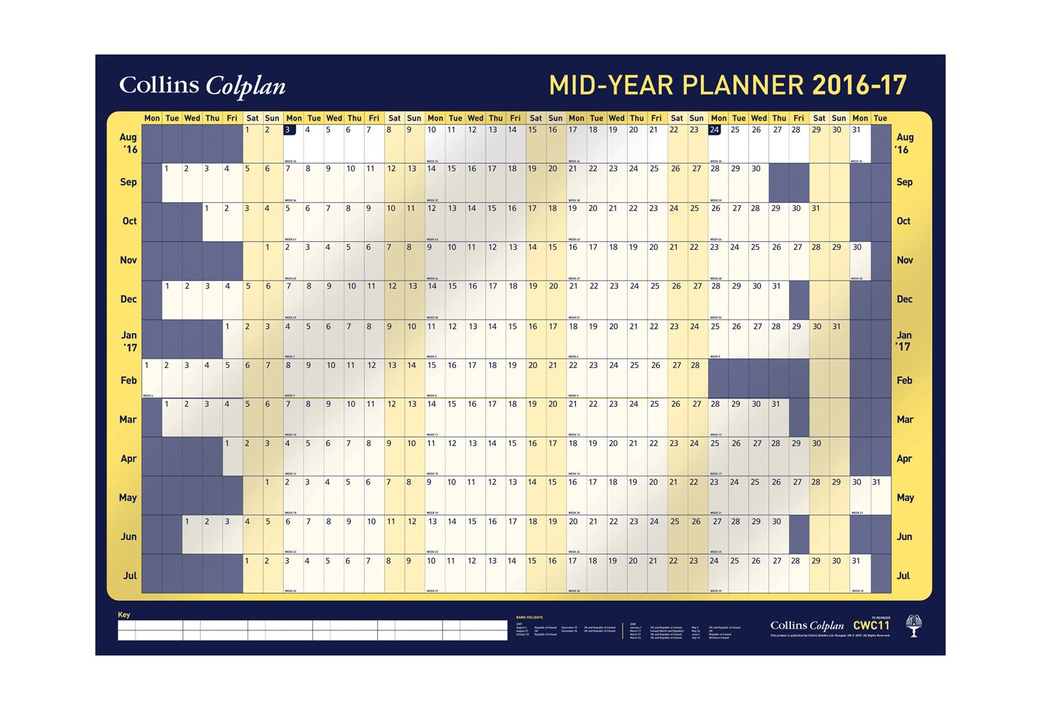collins a1 colplan 2016 17 mid year academic wall planner with pen collins a1 colplan 2016 17 mid year academic wall planner with pen stickers amazon co uk office products