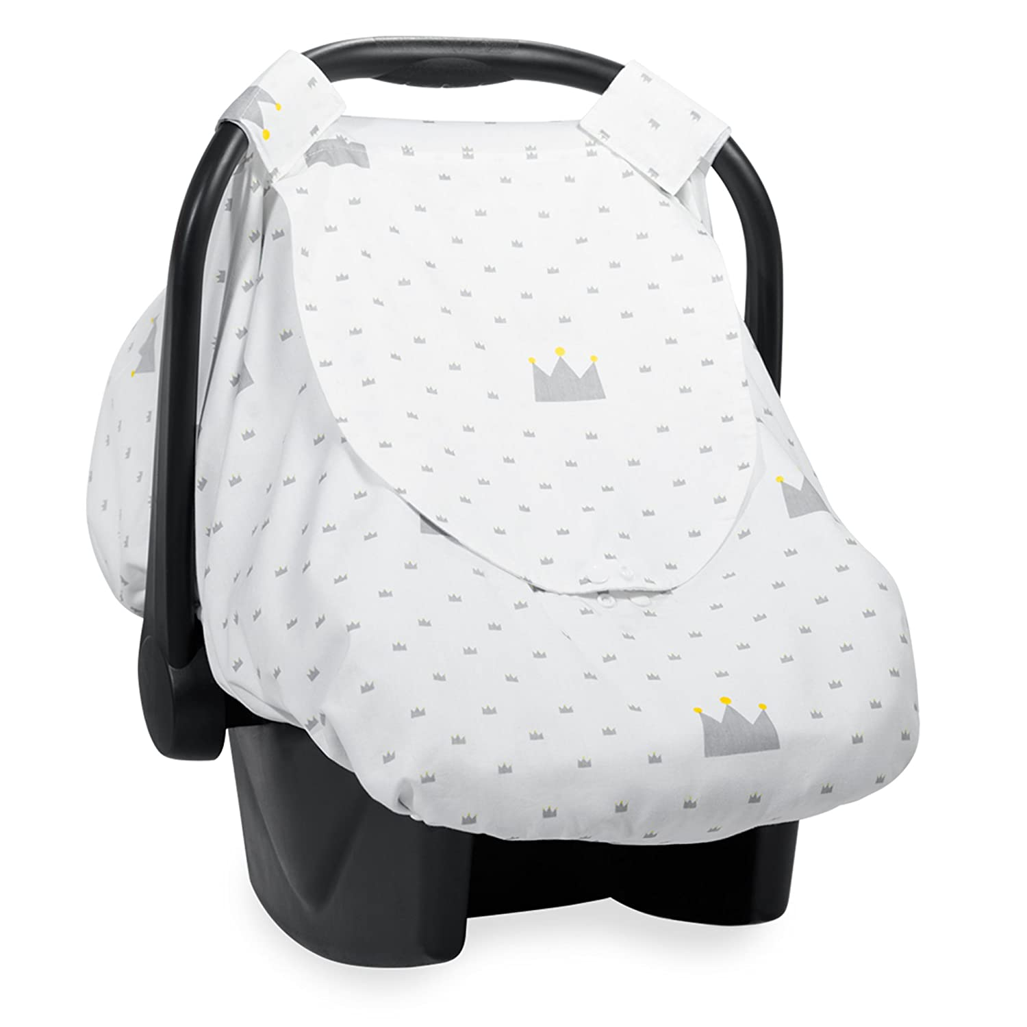 Reversible Car Seat Canopy | Infant Car Seat Cover for Boys or Girls | Nursing Cover with Snap Window-Flap, Zipped Anti-Mosquito Mesh by Aylin's Boutique | Perfect Gift Sets for Baby Shower