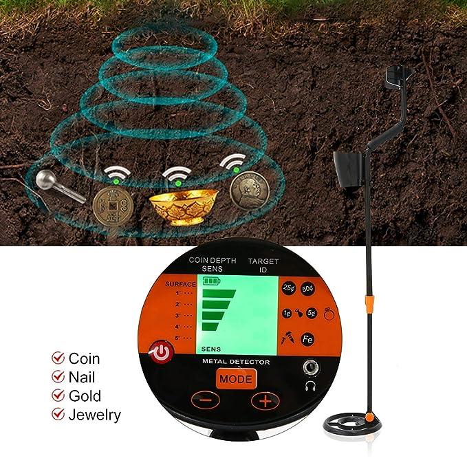 FairytaleMM MD-3060 negro cazador de tesoros del detector de metales subterráneo Buscador de Oro escáner: Amazon.es: Bricolaje y herramientas