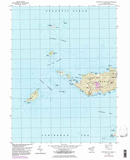 Amazon.com: Virgin Islands Maps | 1955 Western St. Thomas, VI USGS ...