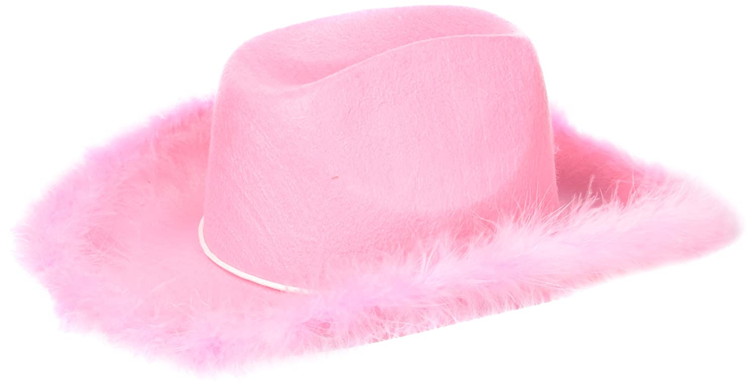 Toy H462 Adult Boa Cowgirl Hat U.S Pink