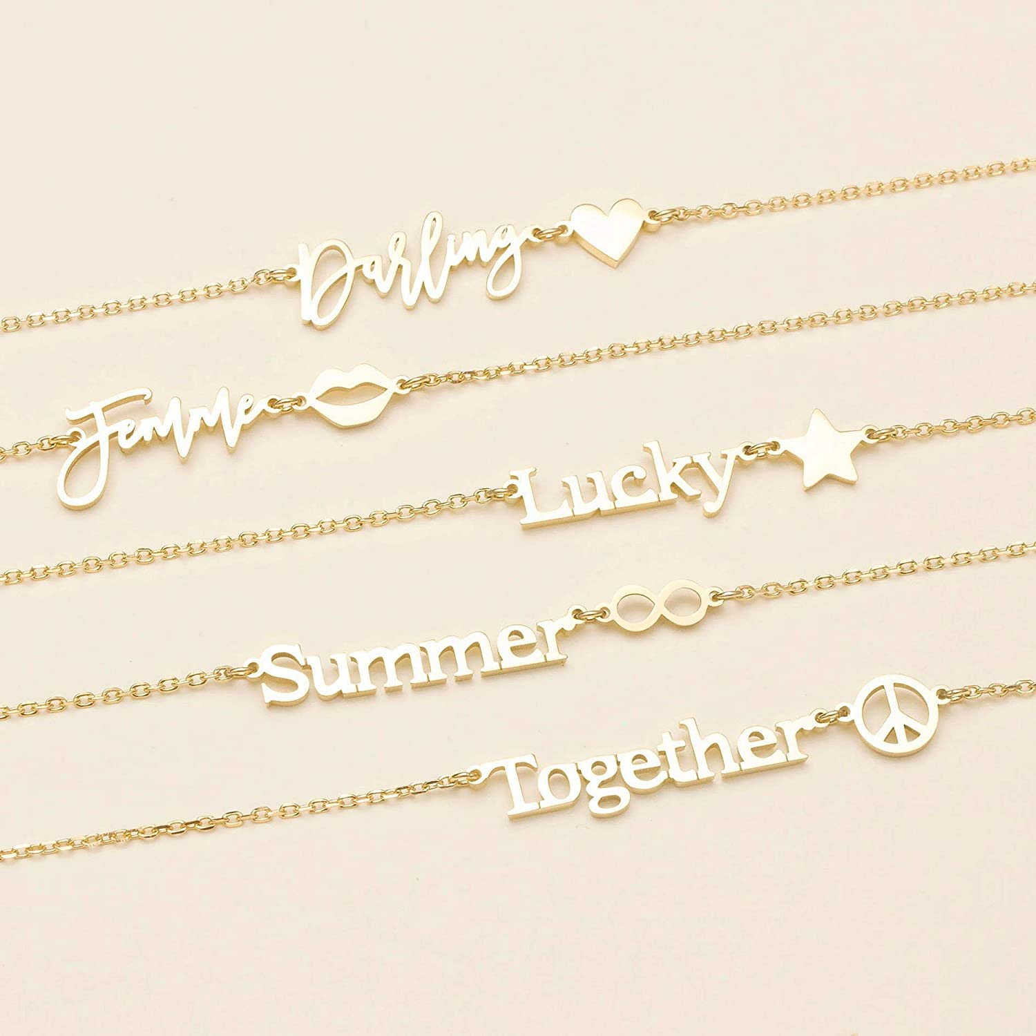 Gold Letter on Sterling silver Gold Letter Necklace Tiny Star Necklace : Personalized 24K Gold engraving Minimalist Star Charm