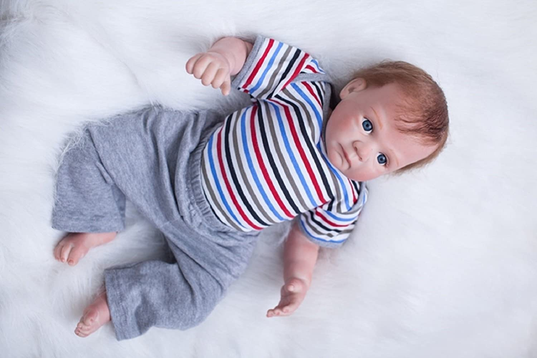 HOOMAI 20inch 50CM mu/ñeca Reborn beb/é Silicona ni/ño Reales Toddler Baby Doll Boy Magnetismo Juguetes