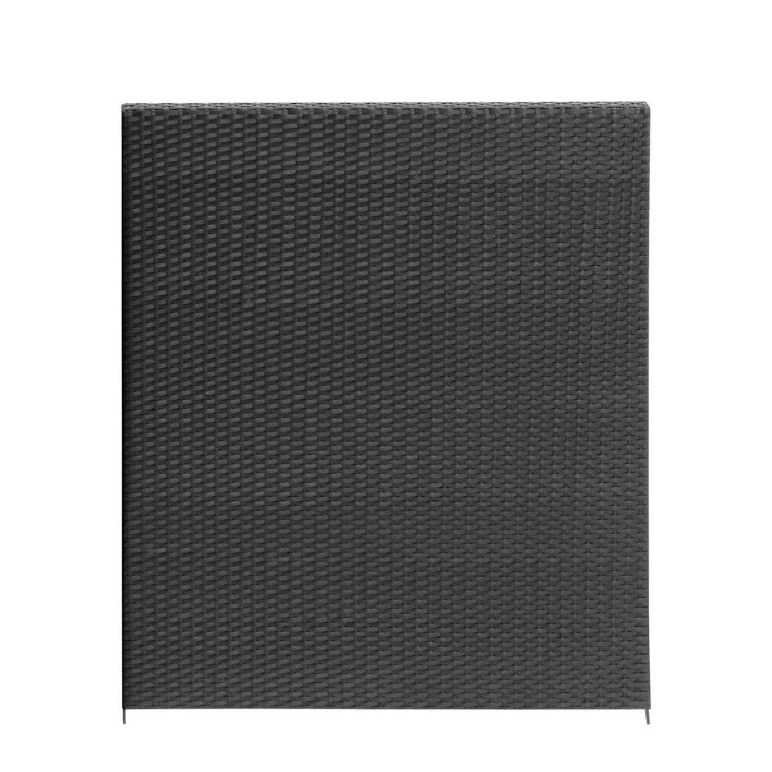 Gartenfreude Polyrattan Zaun Element 180 x 180 cm, 1 Stück, anthrazit, 2550-1015-001