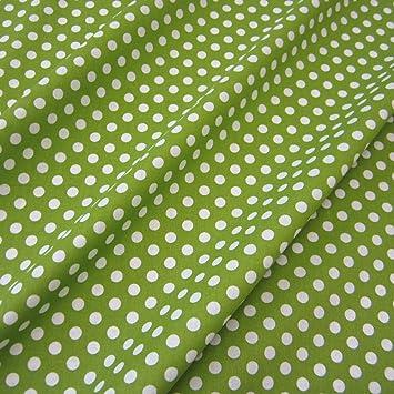 d88f5dadb8967 Stoff Baumwollstoff Baumwolle Popeline Punkte gepunktet Tupfen grün weiß