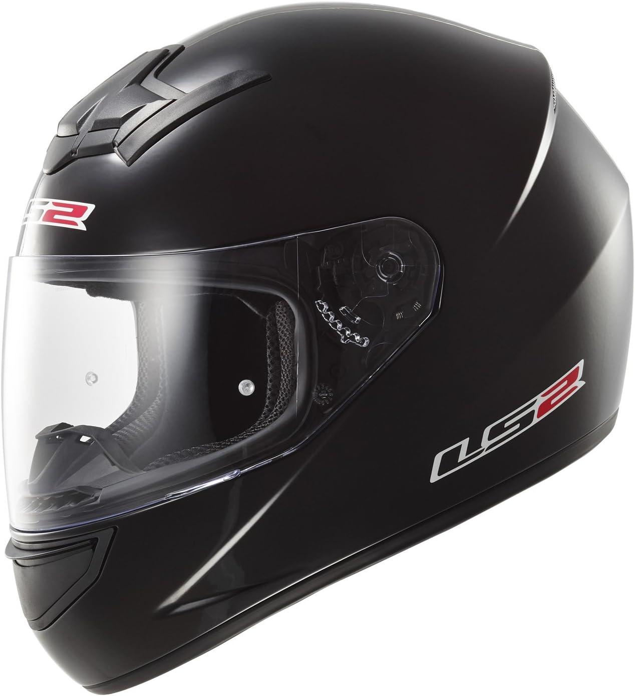 Casco Moto Nero//Verde Fluo XXS LS2