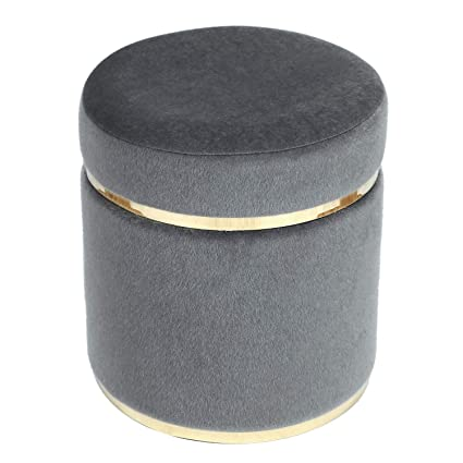 Astonishing Amazon Com Modern Depo Small Round Ottoman Tufted Velvet Inzonedesignstudio Interior Chair Design Inzonedesignstudiocom