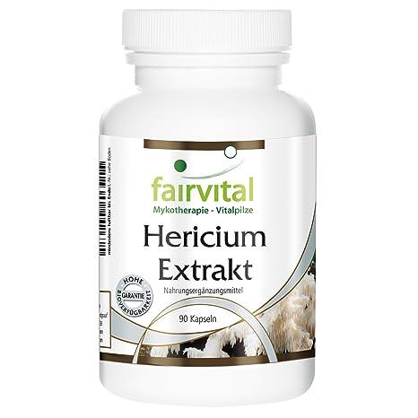 Hericium extraen 500 mg - 1 mes - VEGANO - ALTA DOSIS - 90 cápsulas -