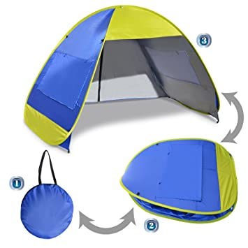 BenefitUSA Instant Pop Up Beach Tent Portable Canopy Family Sports Sun Shade Shelter Outdoor Hiking Travel  sc 1 st  Amazon.com & Amazon.com: BenefitUSA Instant Pop Up Beach Tent Portable Canopy ...