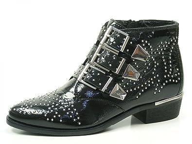 Bronx Brezax 46970 AX 187 Schuhe Damen Ankle Boots Biker