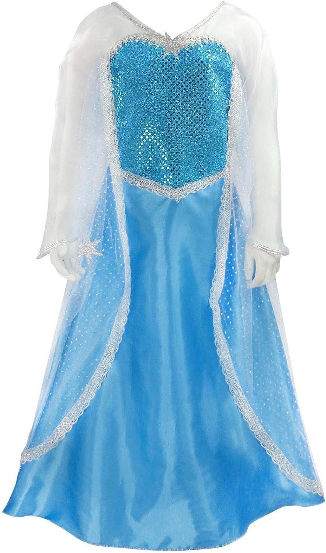 Disfraz de Princesa Elsa Frozen, Talla S: Amazon.es: Juguetes y juegos