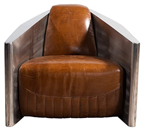 Marvelous Amazon Com Chair Sofa Sofa In Vintage Leather Aluminum Creativecarmelina Interior Chair Design Creativecarmelinacom