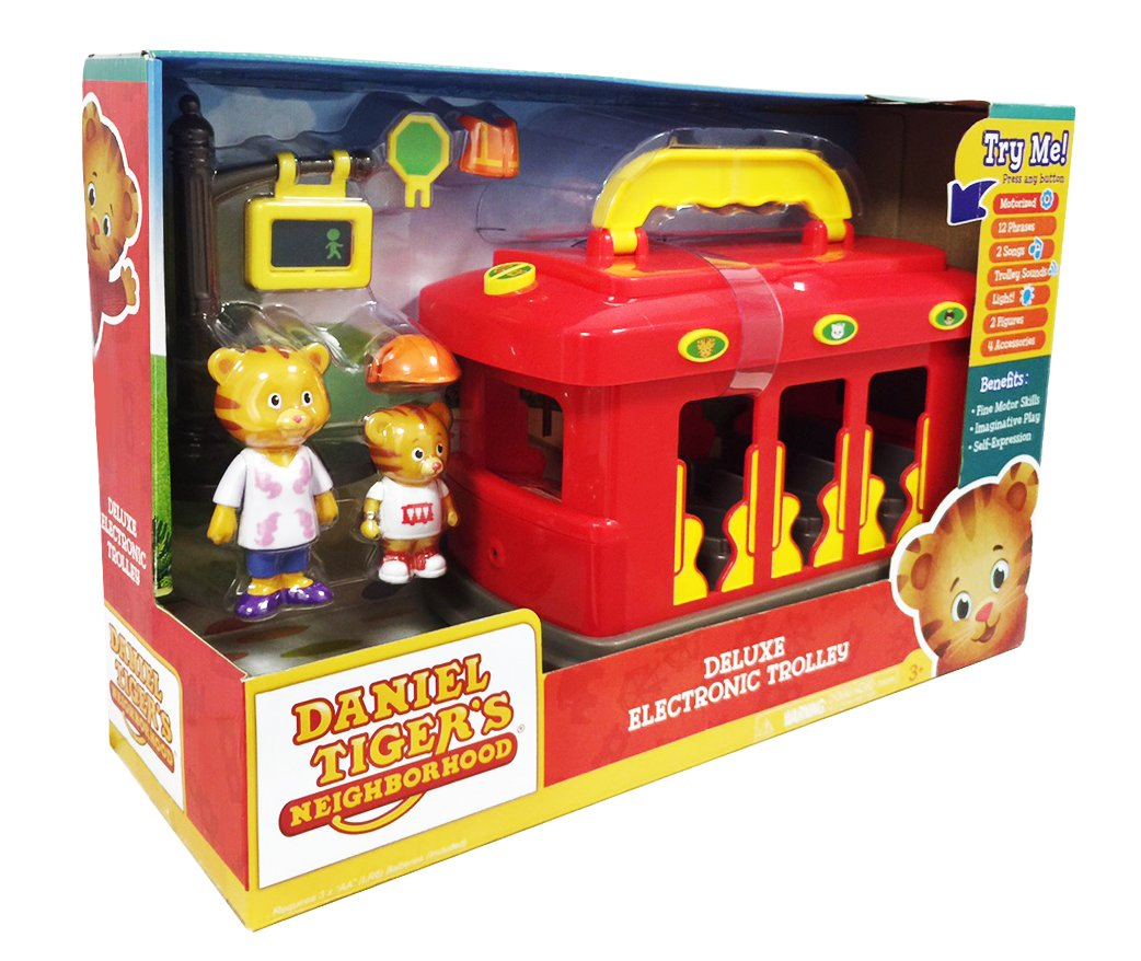 Amazon.com  Daniel Tiger s Neighborhood-Deluxe Electronic Trolley Vehicle   Toys   Games e6d5b364d