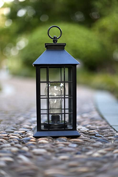 Amazon yacool decorative garden lantern vintage style yacool decorative garden lantern vintage style hanging lanterns outdoor lighting garden light battery aloadofball