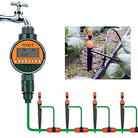 Fixkit Timer Di Irrigazione Elettronico Regolatore Digitale Per Irrigazione Irrigazione Automatica Per Giardino Prato